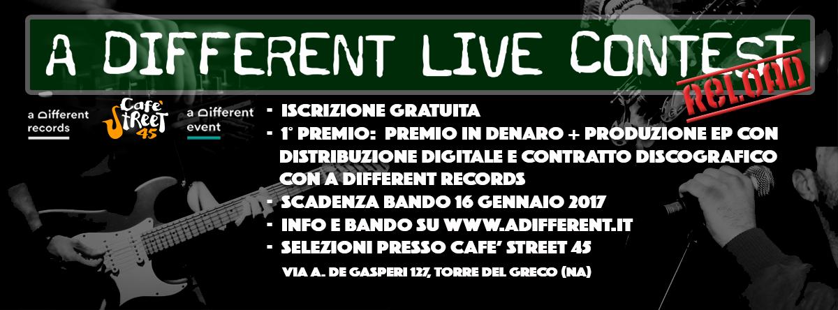 a Different Live Contest _Reload - Scarica il bando nella sezione Event
