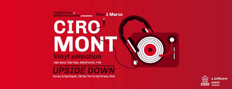 Giovedì 1 Marzo 2018 - Ciro Mont @ Upside Down (Torre del Greco -Na)