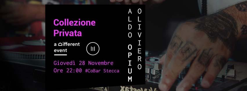 """a Different Event presenta """"Collezione Privata"""" @CoBar Stecca (Molini Meridionali Marzoli - Torre del Greco) - Giovedì 28 Novembre **Aldo Opium Oliviero**"""